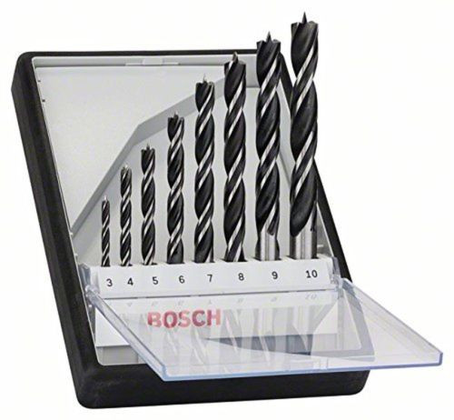 Bosch 2607010533 Brad Point (8-Piece) NEW