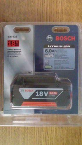 Bosch BAT622 (18V/ 6.0Ah) Lithium-Ion Fat Pack Battery Power Tools High Capacity