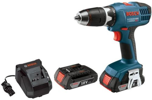 Drill Driver Factory Reconditioned Cordless Electric Compact and LED Light Kit