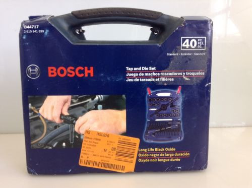Bosch B44717 Tap and Die Set Carbon Steel 40 Pieces Black Oxide