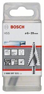 Bosch 2608597521 - Punta a più diametri HSS 4, 39 x 10 x 107 mm