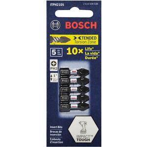 BOSCH Impact Tough Insert - 5 Piece Phillips Screwdriver Bit Set - 25mm PH2