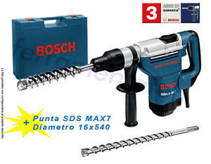 MARTELLO DEMOLITORE COMPRESS PERFORATORE ROTATIVO GBH 5-38D BOSCH+PUNTA SDS MAX