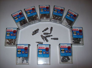 50 BOSCH R2 ROBERTSON SQUARE SCREW DRIVER DRILL BITS #2