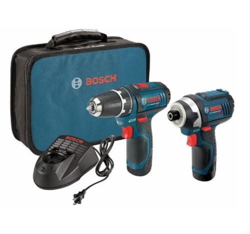 Electric Drill Driver 12 Volt Lithium Ion Cordless Impact Driver Combo Kit 2Tool