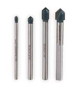 BOSCH GT2000 Glass and Tile Bit Set, 1/8-5/16, 4 Pc