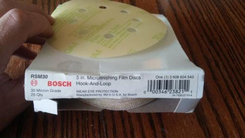 Bosch 5 in. MICRO FINISHING FILM DISCS (25 PACK) hook & loop 000346238211 #1152