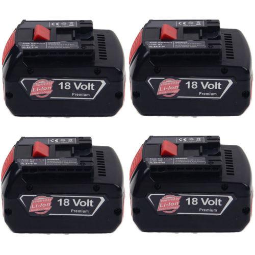 4x4.0AH 18V Li-ion Battery For Bosch BAT609 BAT618 2 607 336 091 CCS180 CCS180B