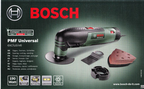 Bosch Pmf Universal exclusive 190W in valigetta multifunzione con accessori