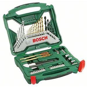 Bosch 2607019327 Misto X-Line Set Trapano 50 Pezzi, Titanium, Avvitamento e
