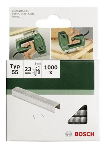 Bosch 2609255827 16mm Type 55 Narrow Crown Staples (Pack of 1000)