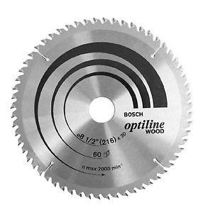 New Bosch Ø216mmx2.5/1.5x25.4mm T60 Circular Saw Blade 2608642995 for Wood