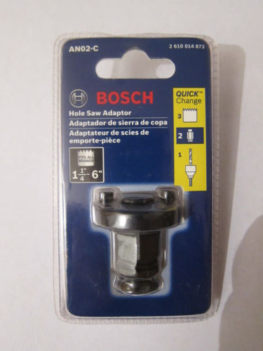 Bosch AN02-C Quick Change Adapter for Hole Saws, 1-1/4-Inch To 6-Inch Sizes