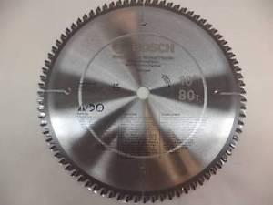 "NEW BOSCH PRO1080NF 10"" DIAMETER 80T 1"" TCG NON FERROUS METAL CUTTING SAW BLADE"