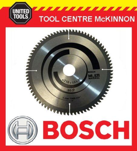 "BOSCH 216mm (8½"")  x 30mm BORE ALUMINIUM AND MULTI MATERIAL TCT SAW BLADE"