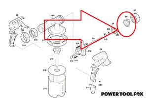 Bosch PFS 3000 -2 Fine SPRAYER NOZZLE ( R E D ) 2609006615 899