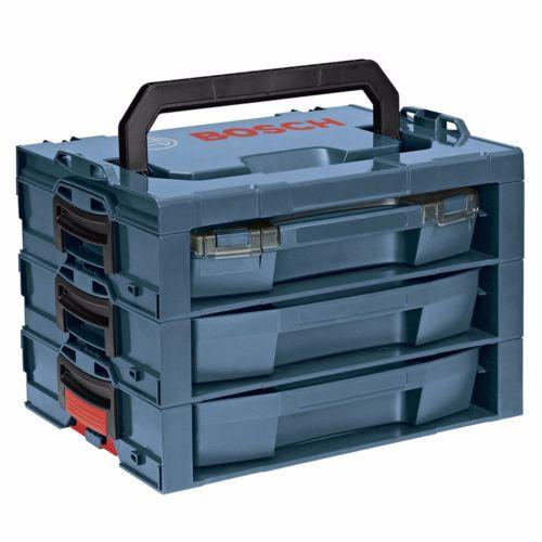 Bosch 17.25-in 3-Drawer Blue Plastic Organizer Chest Cabinet Lockable Tool Box