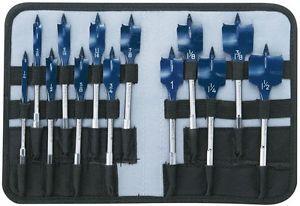 Bosch Daredevil Spade Drill Bit Set Paddle Design Steel Pouch (13-Piece) New