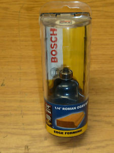 "NEW! BOSCH 1/4"" ROMAN OGEE EDGE FORMING ROUTER BIT"