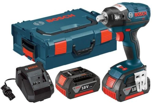 Square Drive Impact Wrench Kit 18 Volt Lithium-Ion 1/2 in. Brushless Detent Pin