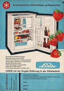 3w1582/ Alte Reklame von 1960 -  LINDE hat die längste Erfahrung… - Stuttgart