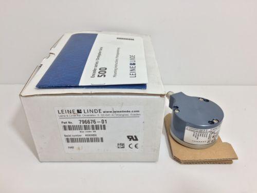 NEW! LEINE LINDE ENCODER 796676-01 79667601 9-36 VDC 13 BIT SSI GRAY