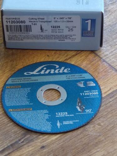 "25 Linde 5"" x .045"" X 7/8"" Cutting Wheel, Wheels, Part # 11203080, T-01 NEW"