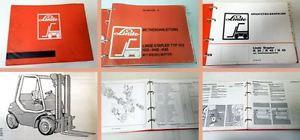 Linde H35 H40 H45 Typ 352 Gabelstapler Betriebsanleitung Ersatzteilliste 1993