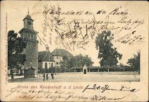 Ak Neuenstadt an der Linde, Großer Platz mit Turm - 1258088
