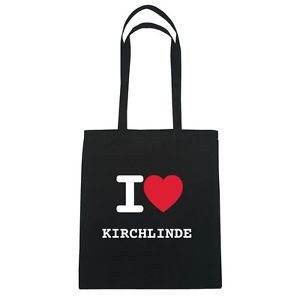 Amo KIRCH-LINDE - Borsa di juta Borse Tote Hipster borsa - Colore: nero