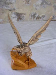 Großartige klein adler, skulptur in holz linde