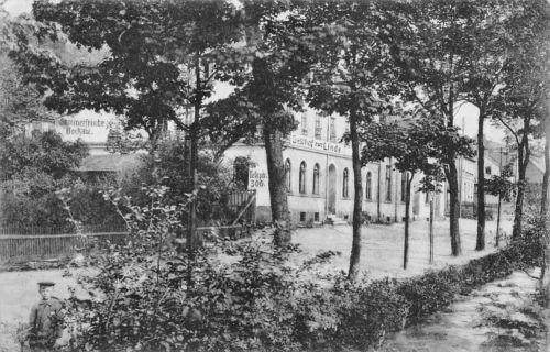 Bockau Erzg. Gasthaus zur Linde Hauptstrasse Postkarte 1911