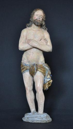 """""""Christus im Jordan stehend"""", ca. 1550-1600, Linde, alte Fassung, Sammlerstück"""