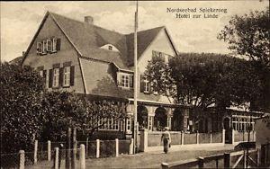 Ak Spiekeroog in Niedersachsen, Hotel zur Linde, Straßenansicht - 1658960