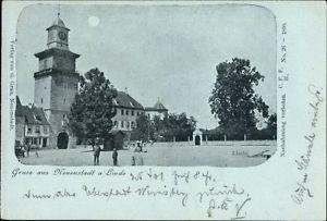 Mondschein Ak Neuenstadt am Kocher, Partie an der Linde - 1259625