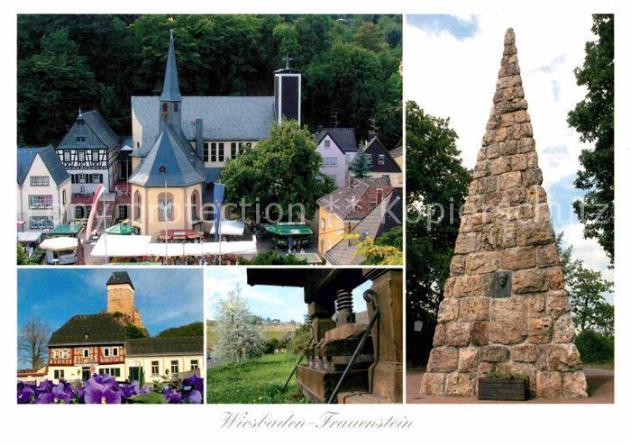 72858110 Wiesbaden Kath Kirche St Georg 1000jaehrige Linde Burg Historische Wein