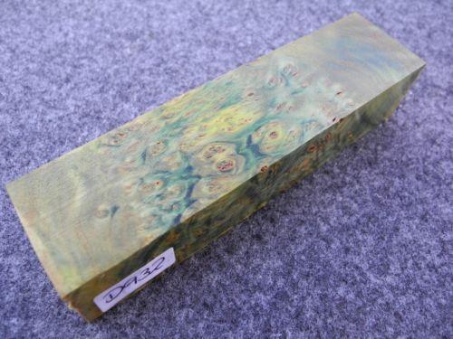 gemaserte Linde Maserlinde grün stabilisiert Messergriffblock 142x36x30 mm D932