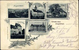 Ak Engelthal in Mittelfranken, Kirche, Linde, Sanatorium, Torgruppe - 1629020