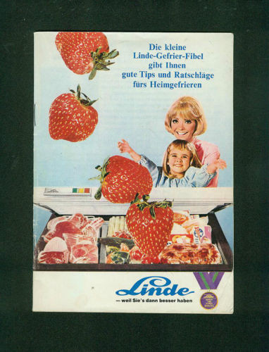 Die kleine  Linde-Gefrier-Fibel Tips Ratschläge 1969 Zeichnungen Linde Gefrieren