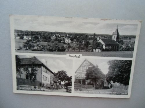 Ansichtskarte Donebach 20/30er?? Total Handlung Andreas Götz Gasthaus zur Linde