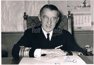 """Norway Admiral Aage Linde genuine autograph signed 5""""x7"""" photo 1967"""