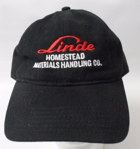 LINDE Homestead Materials Handling Embroidered Baseball Cap Strapback Hat Black