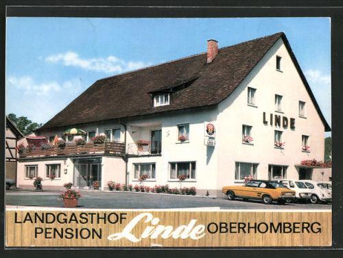 schöne AK Oberhomberg, Gasthaus-Pension Linde