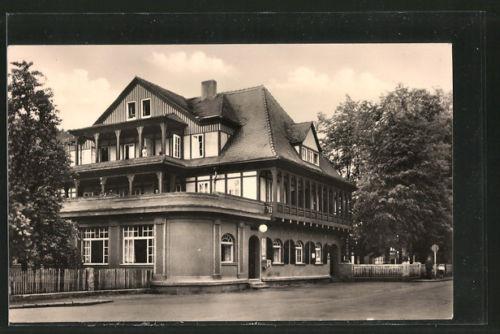 tolle AK Sitzendorf, Straßenpartie am Hotel zur Linde