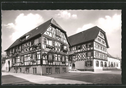 alte AK Oberkirch, Blick auf Hotel Obere Linde, Bes. A. Dilger