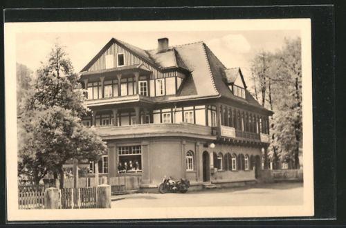 schöne AK Sitzendorf, HO-Hotel Zur Linde