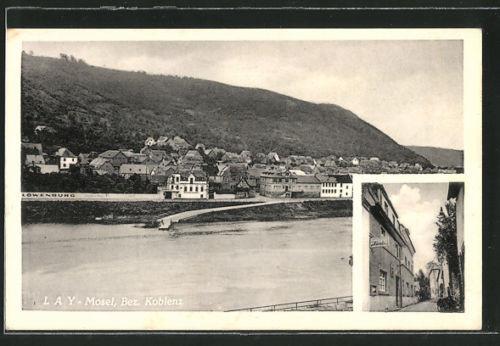alte AK Lay, Ortsansicht, Gasthaus Zur Linde 1953