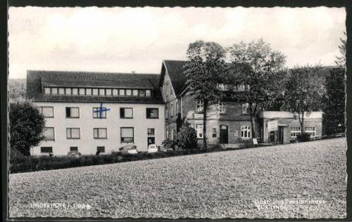 alte AK Linderhofe, Gast- und Pensionshaus Zur Linde 1961
