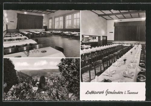 schöne AK Gemünden, Gasthaus Zur Linde, versch. Ansichten