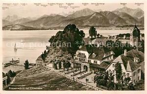 72981808 Frauenwoerth Chiemsee Hotel Linde Kirche Alpen Chiemsee